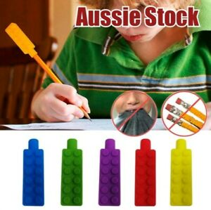 1 x Silicone Brick Pencil Pen Cap Topper Oral Sensory Chew Input Autism Anxiety