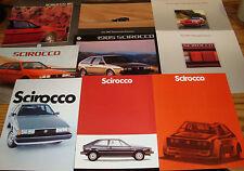 Original 1980 - 1988 Volkswagen VW Scirocco Sales Brochure Lot of 9 80 81 82