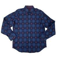Bugatchi Dress Shirt Men's Size Large Long Sleeve Collared Classic Fit Button Up