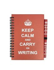 KEEP CALM & CARR ON WRITING NOTE PAD WITH LONDON PEN SOUVENIR GIFT- A6 Size