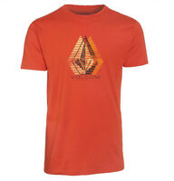 VOLCOM Mens S/S Graphic Surf Skate Street Tee T-Shirt Crew Burnt Orange S M NEW