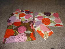 POTTERY BARN TEEN TWIN DUVET COVER FLORAL AND 2 PILLOWCASES