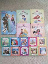DISNEY PRINCESS BOARD BOOK LOT 15~Frozen~Pocahontas~Mulan~Belle~Ariel~Belle~Snow