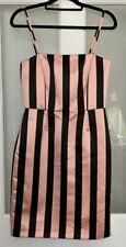 Max Mara Notte Max & Co Stripe Pencil Dress Size 10 Pink Black Wiggle Pin Up
