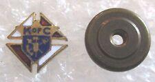 Vintage K of C Knights of Columbus Fraternal Member Lapel Pin-Screw Back