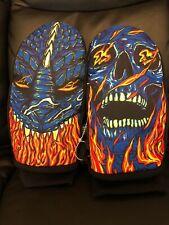 New listing Neff Character Black Snowboard Mittens Snow Ski Gloves Small Mens Flames Skulls