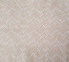 Classical Elements BTY P&B Textiles White on Beige Chevron Geometric