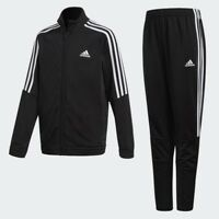 Adidas Boys Kids Junior Tiro Tracksuit Full Zip Top Bottoms Sports Suit Black