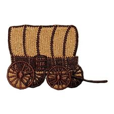ID 1324 Covered Wagon Patch Oregon Trail Caravan Embroidered Iron On Applique