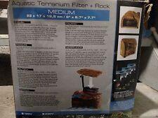 Exo Terra Turtle Cliff Aquatic Terrarium Filter + Rock, Large