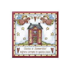 Formella legno GIOIA E SERENITA' .. Quadro casa idea regalo Targa made in italy