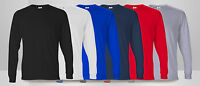 New Plain Fruit Of The Loom LONG SLEEVE Cotton T-SHIRT Tee Work Wear Casual Top