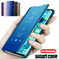 For Samsung Galaxy A51 A70 A50 A10s Smart Mirror Leather Flip Stand Case Cover