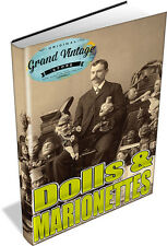 DOLLS & MARIONEETES 13 RARE VINTAGE BOOKS DVD - ANTIQUE DOLL COLLECTING, HISTORY