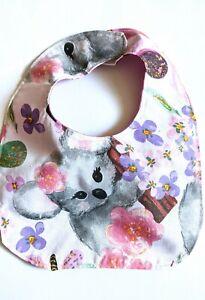 Koala Bear bib bibs for girls animal bibs pink bibs