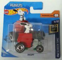 HOT WHEELS - MOC Hot Wheels Peanuts Snoopy Short Card 9/10 Mattel DC 2018 New