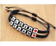Handmade Jewellery Lovers' Name Bracelet,Couples bracelet valentine's dayalentin