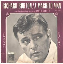 RICHARD BURTON--PICTURE SLEEVE + 45---(A MARRIED MAN)--PS--PIC--SLV