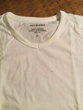 Jack & Jones Medium White  V neck (Twin Pack) plain cotton t shirt.
