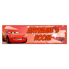 Personalized & Custom Printed Cars Lightning McQueen Bedroom Poster Banner Decor