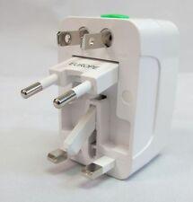 Universal World Wide Travel Plug Adapter - White fit UK JP CHINA ASIAN US