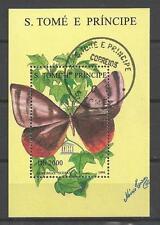 Papillons Saint Thomas et prince (24) bloc oblitéré