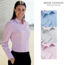 Brook Taverner Damen Perano Lang Ärmel Bluse 2215-Damen Business Shirt