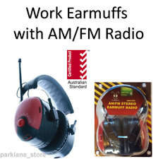 Work Ear Muffs Headphone Built In FM/AM Radio Job Site Safety Protection Hearing