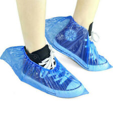 100X Disposable Plastic Waterproof Anti Slip Shoe Covers Boot Cleaning Overshoes