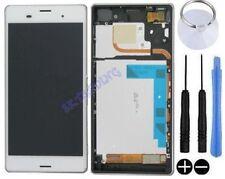 ECRAN LCD VITRE TACTILE SUR CHASSIS BLOC COMPLET POUR SONY XPERIA Z3 D6603 BLANC