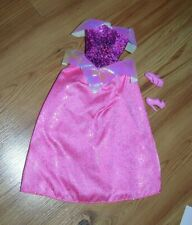 Barbie Fashion Doll Disney Princess Ball Gown Dress Pink With Shoes