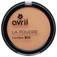 Poudre compacte Dorée Certifiée Bio Vegan Naturel Cosmétique Ecologique AVRIL