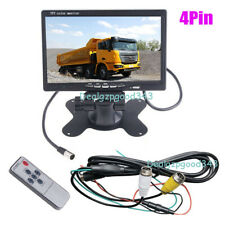 "4Pin 7"" TFT LCD Car Rearview Monitor 2CH Video input For DVD & Reversing Camera"