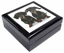 Two Cute Dachshund Dogs Keepsake/Jewellery Box Christmas Gift, AD-DU2JB