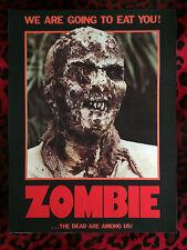 "Lucio Fulci's Zombie Back Patch! 11"" X 14.5"" Horror Punk Rockabilly Psychobilly"