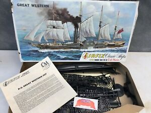 Vintage Airfix Great Western Paddle Steamer Sail Ship Model Kit - 1/144 Scale
