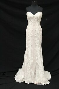Justin Alexander 8920 Bridal Wedding Gown Dress sz 12