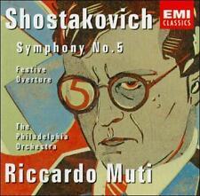 Shostakovich Symphony No. 5 and Festive Overture 1993 by Dmitri Shos . EXLIBRARY