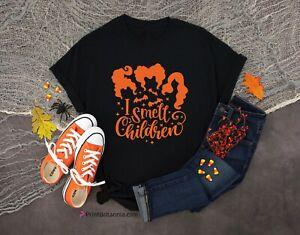 I Smell Children Halloween T-Shirt Hocus Pocus  Sanderson Sisters T Shirts Tee