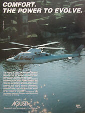 10/1989 PUB GRUPPO AGUSTA A109 C HELICOPTER HUBSCHRAUBER HELICOPTERE ORIGINAL AD