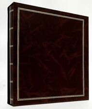 """Brown Classic Slip In Photo Album In Box Holds 500 6"""" x 4"""" Photos Travel Gift"""