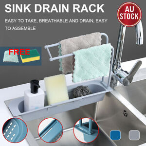 Telescopic Sink Rack Holder Expandable Storage Drain Basket Home Kitchen Kit