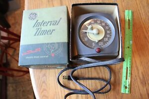 General Electric Interval Timer T-48 Model 3T48AA1 Vintage in box