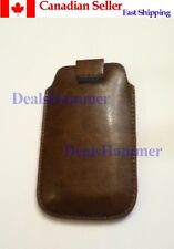 Pull Strap Leather Skin Case Pocket for Phone iTouch iPod iPhone 4 4S BROWN