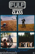 POSTER : MUSIC: PULP - DIFFERENT CLASS - FREE SHIPPING !  #6507 RC34 M