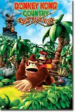 NINTENDO DONKEY KONG COUNTRY RETURNS 22x34 NEW VIDEO GAME POSTER FREE SHIPPING