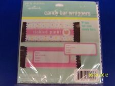 Baby Shower Cute Tickled Pink Gift Party Favor Candy Bar Wrappers - Girl
