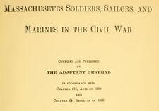 Massachusetts MA Soldiers, Sailors, Marines in Civil War 9 Vols CD - D299