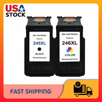 PG-245XL Black & CL-246XL Color Ink for Canon Pixma TS302 TS202 MG2525 MG2522
