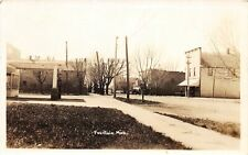 G98/ Fountain Michigan RPPC Postcard 1936 Gas Station Pump Store